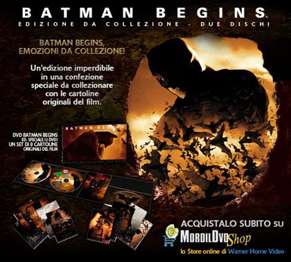 Il cavaliere oscuro, al cinema e in dvd -  Dall'articolo: Batman Begins, Collector's Edition.