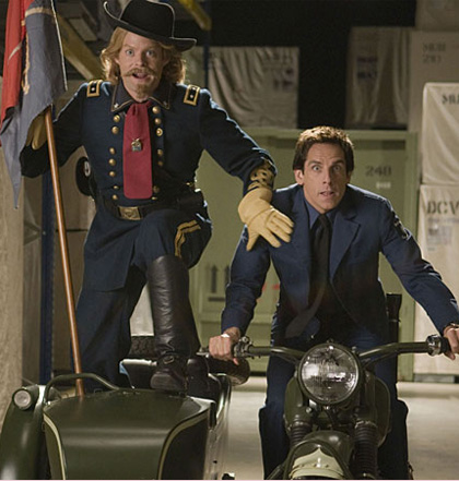Il generale Custer (Bill Hader) e Larry Daley (Ben Stiller)