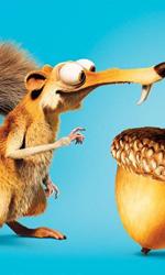 L'era glaciale: l'alba dei dinosauri, Queen Latifa parla di Ellie - Il poster di Scrat