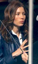 The A-Team: Mr. T sar� l'unico attore del telefilm che non far� un cameo - Jessica Biel (il tenente Carissa Sosa) sul set