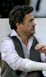 Due Date: le immagini dal set di Downey Jr. e Galifianakis - Robert Downey Jr. sul set