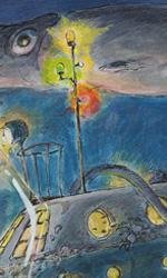 Ponyo sulla scogliera: gli artwork - La nave nel mare