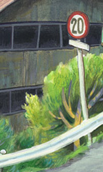Ponyo sulla scogliera: gli artwork - Un'immagine della cittadina