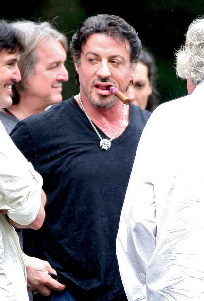 In foto Sylvester Stallone (71 anni)