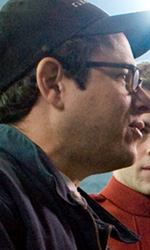 Star Trek: le immagini del dietro le quinte - Karl Urban, Zachary Quinto e Zoe Saldana all'hangar dell'Accademia
