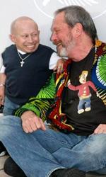 Parnassus - L'uomo che voleva ingannare il diavolo, photo call - Terry Gilliam con Verne Troyer
