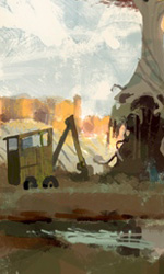 Fantastic Mr. Fox: i concept art di Chris Appelhans - Le ruspe all'attacco