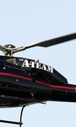 A-Team: Copley e Cooper su un carroarmato all'anteprima mondiale - L'elicottero dell'A-Team