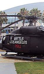 Comic-Con 2010: Battle: Los Angeles, se non è umano, uccidetelo - Un elicottero del film al Comic-Con