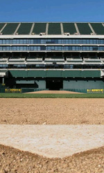 Moneyball: prime foto sul set di Philip Seymour Hoffman - Casa base dell'Oakland Coliseum