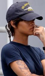 Battleship: prime foto di Rihanna e Taylor Kitsch - Rihanna sul set