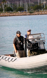 Battleship: prime foto di Rihanna e Taylor Kitsch - Imbarcazioni sul set