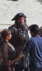 Pirates of the Caribbean: On Stranger Tides, Depp sul set di Greenwich -