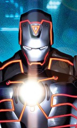 L'Universo Marvel contagiato da Tron: Legacy - Iron Man in L'invincibile Iron Man #33