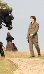 Le foto di Downey Jr. e Law al Richmond Park di Londra - Jude Law e Robert Downey Jr. sul set
