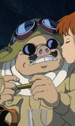 La fotogallery di Porco Rosso - Porco Rosso e Fio in una scena del film.