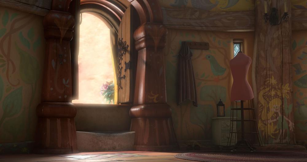La torre in cui � rimasta rinchiusa Rapunzel. -