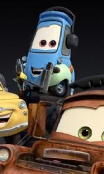 Online una nuova clip su Saetta McQueen - Fillmore, Luigi, Guido e Mater formano la squadra di meccanici di Saetta McQueen.