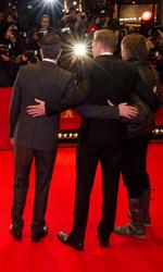 Berlinale 2011: Il red carpet di Margin Call - Zachary Quinto con Paul Bettany e Jeremy Irons sul red carpet di <em>Margin Call</em>.