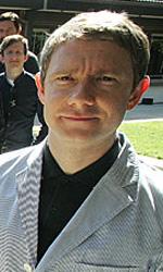Ci sono tredici nani e un hobbit a Wellington - Martin Freeman (sulla destra) interpreter� Bilbo Baggins nei due film su Lo Hobbit.