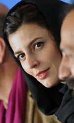 Non sempre le bugie sono immorali - Leila Hatami accanto al regista Asghar Farhadi in conferenza stampa.