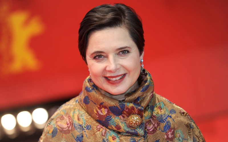 La presidente di giuria Isabella Rossellini sul red carpet.