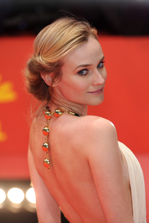 L'attrice Diane Kruger prima della cerimonia di premiazione.