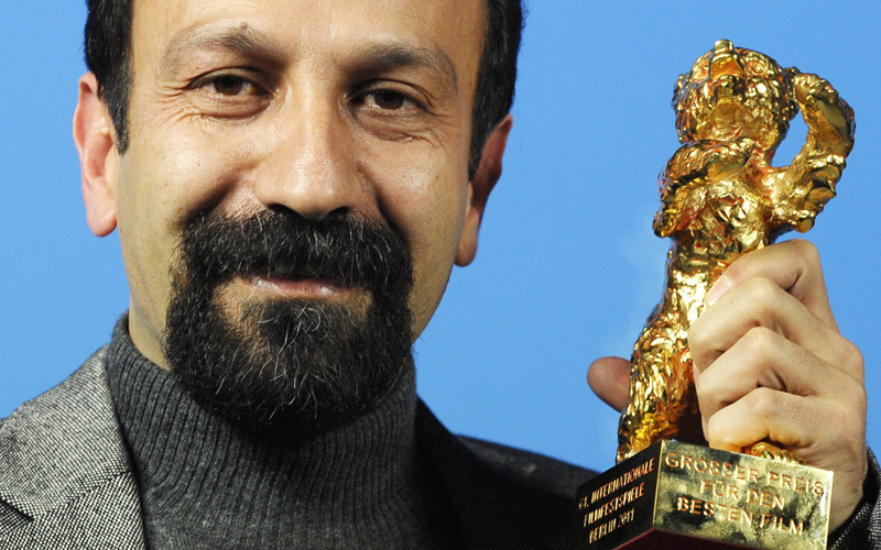 Il regista iraniano Asghar Farhadi, vincitore dell'Orso d'oro.