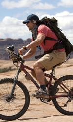 Fra culto della vita e culturismo dell'immagine - Il biking di James Franco in 127 ore.