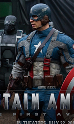 Teschio Rosso fa la sua comparsa con l'uniforme dell'Hydra - Un wallpaper di <em>Captain America: The First Avenger</em>.