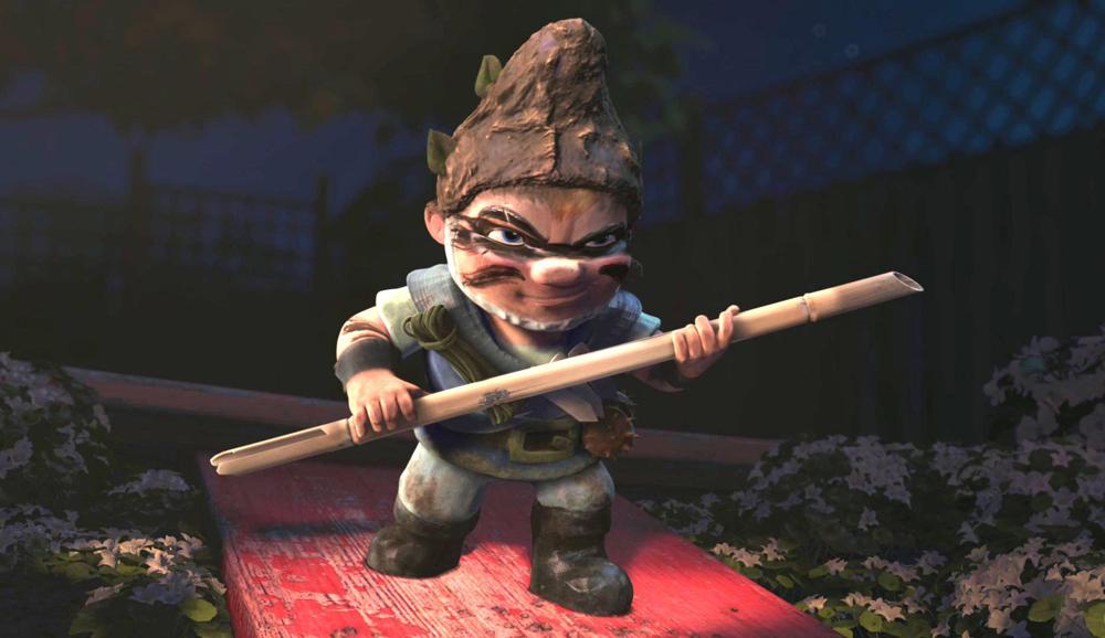 Una scena del film <em>Gnomeo & Giulietta</em> di Kelly Asbury. -