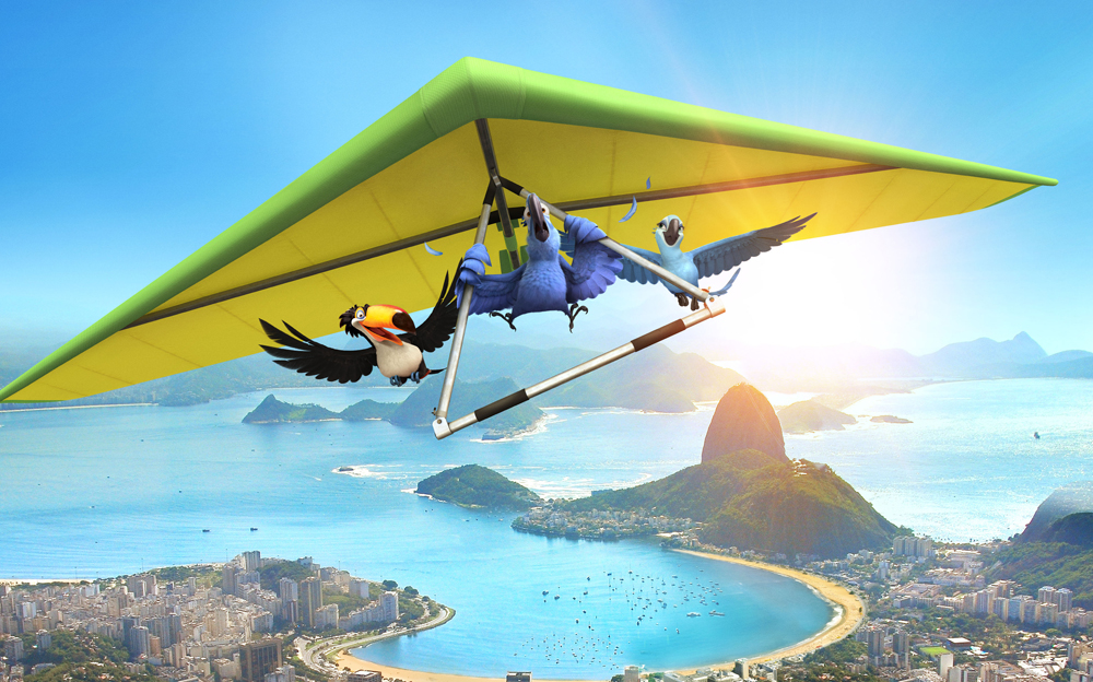 Una scena del film d'animazione <em>Rio</em>. -