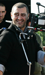 In foto il regista Guido Lombardi sul set di <em>Là-bas</em>, film in concorso a Venezia 68. nella sezione
