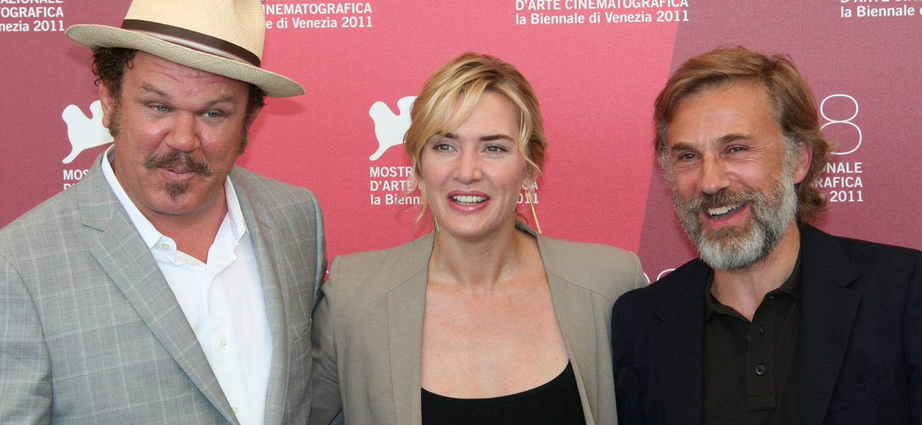John C. Reilly, Kate Winslet e Christoph Waltz al photocall del film <em>Carnage</em> di Roman Polanski.