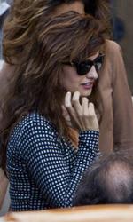 Penelope Cruz a Roma con Castellitto - Penelope Cruz sul set romano di Venuto al mondo.
