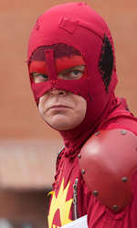 Super, supereroe per caso - Rainn Wilson alias Saetta Purpurea in una scena del film <em>Super</em> di James Gunn.