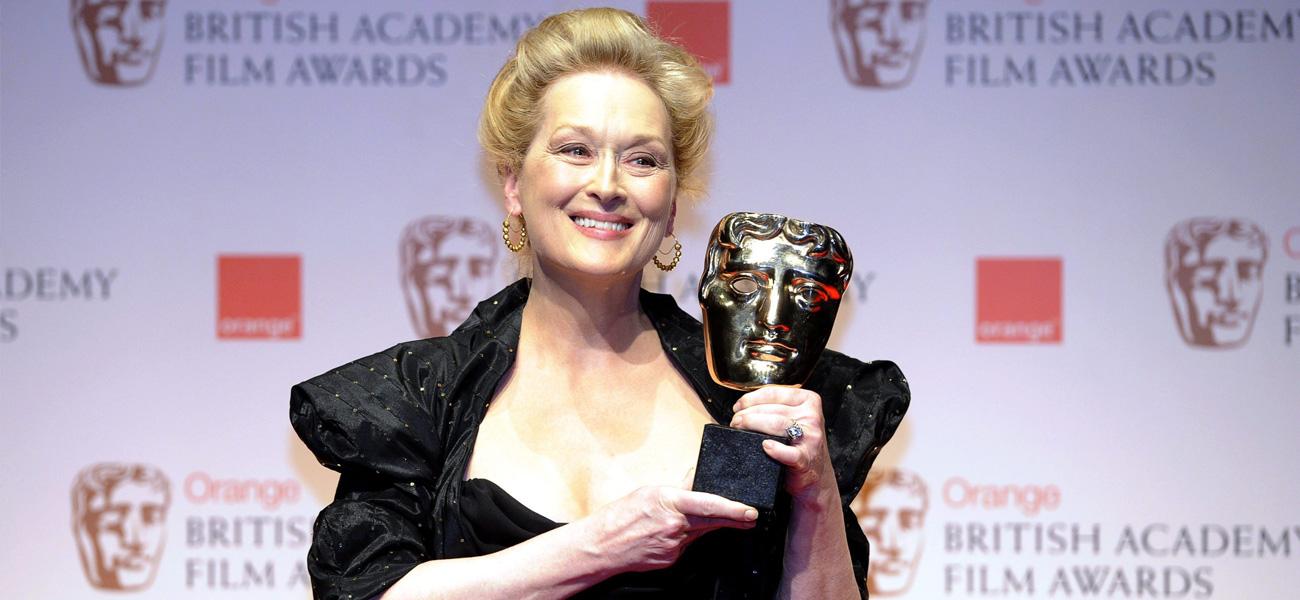 Meryl Streep madre di Julia Roberts - In foto Meryl Streep, premiata ai Bafta 2012 come miglior attrice protagonista per <em>The Iron Lady</em>.