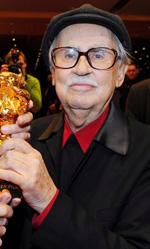Berlinale 2012, Orso d'oro a Cesare deve morire - In foto Paolo e Vittorio Taviani, vincitori dell'Orso d'oro per il il film Cesare deve morire.