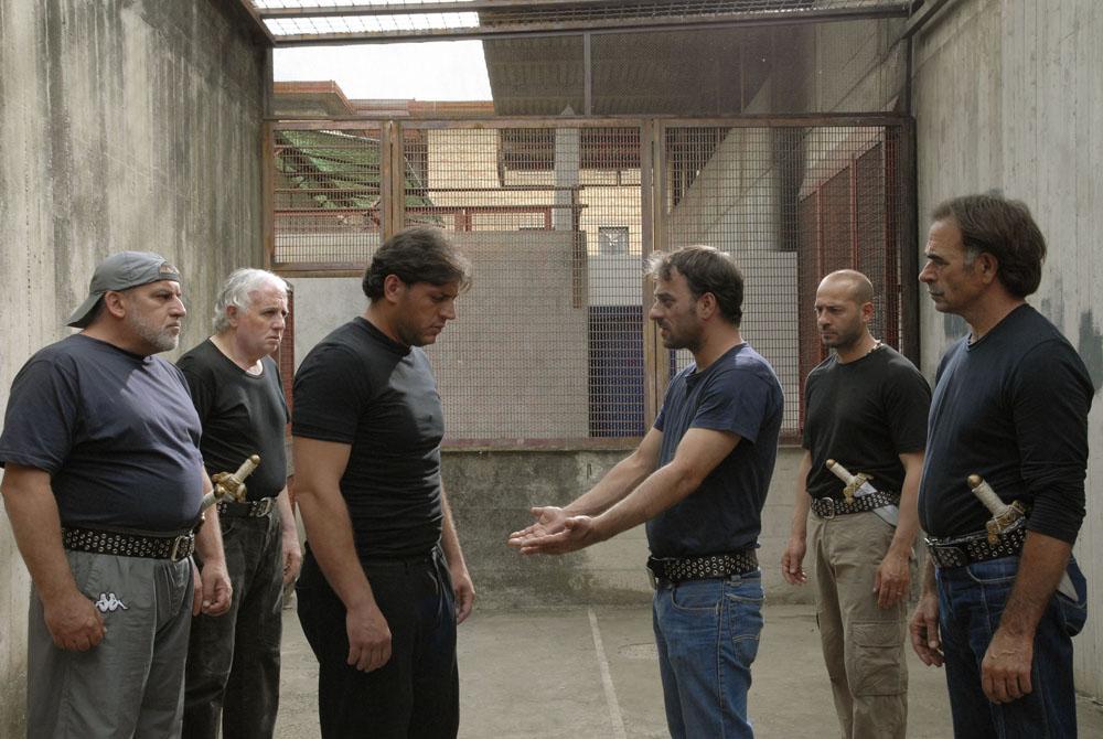 Una scena del film <em>Cesare deve morire</em> dei fratelli Taviani. -