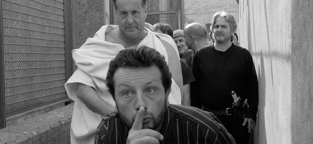 In foto una scena del film <em>Cesare deve morire</em> dei fratelli Taviani. -