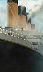'Vinci Titanic 3D', ecco la vincitrice - In foto la scena della partenza della nave in Titanic 3D di James Cameron.