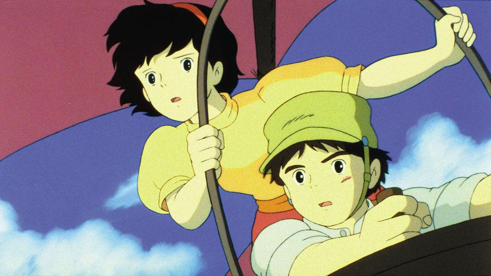 Una scena del film <em>Il castello nel cielo</em> di Hayao Miyazaki. -