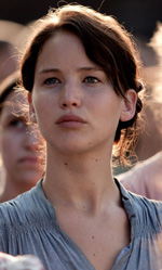 Distretto 12, le brigate del reality - In foto l'attrice Jennifer Lawrence in una scena di Hunger Games di Gary Ross.