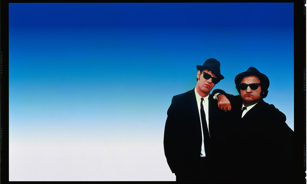 I due protagonisti del film <em>The Blues Brothers</em>.