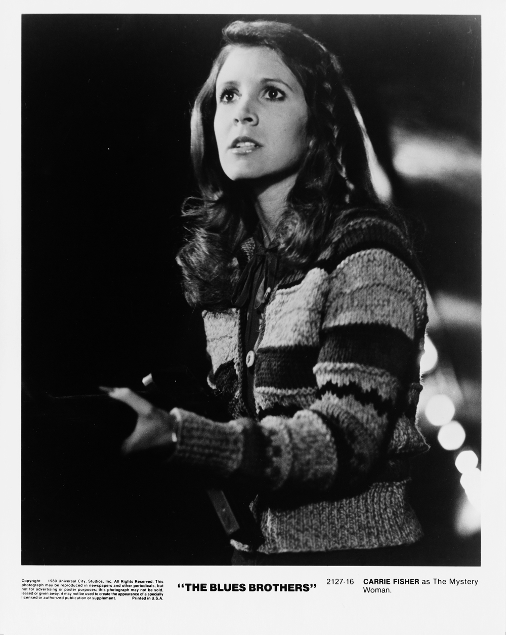 In foto Carrie Fisher (60 anni)