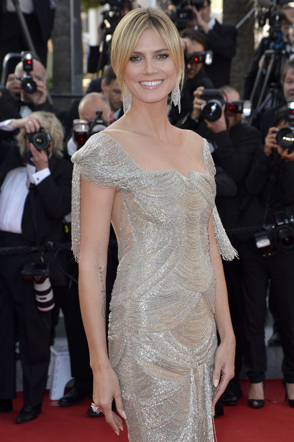 Heidi Klum sul red carpet di <em>The Paperboy</em> di Lee Daniels.
