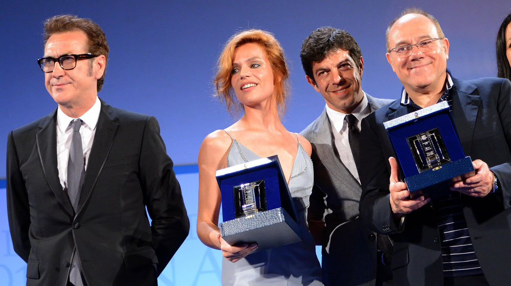 Nastri d'argento, trionfa Sorrentino - La cerimonia di premiazione dei Nastri d'argento 2012.