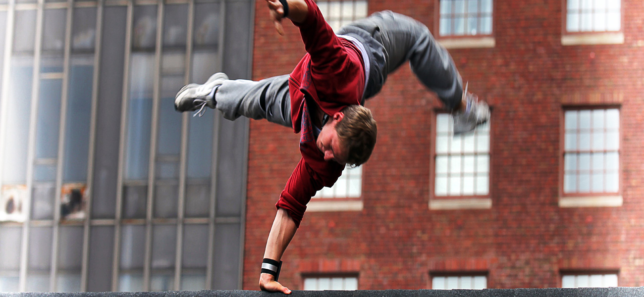 In foto una scena del film <em>Freerunner</em>.