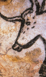Werner Herzog e Jessica Chastain su MYMOVIESLIVE! - Un'incisione rupestre nella celebre grotta Chauvet, teatro del pluripremiato documentario di Werner Herzog.