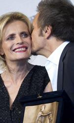 Roma 2012, Marc'Aurelio d'Oro a Marfa Girl - In foto Isabella Ferrari, vincitrice del premio come Miglior Attrice e Paolo Franchi, vincitore del premio per la Miglior Regia per E la chiamano estate.